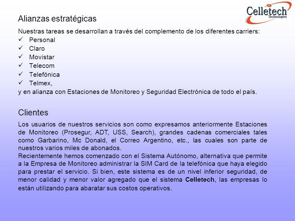 SERVICIO CELLETECH Lider en transmisión inalámbrica de alarmas para estaciones de monitoreo.