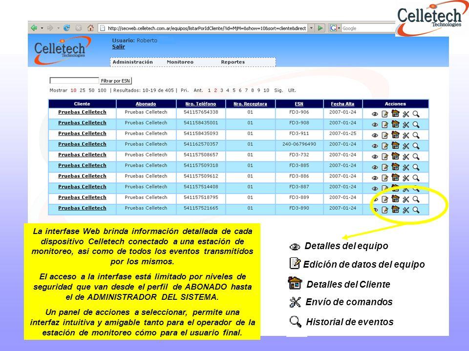 En el Reporte de Status, contamos con la información del abonado al que pertenece, el estado de la línea telefónica conectada al equipo, el modo en que esta configurado (Back up o Full data), la intensidad de la señal que tenia el equipo al momento de la consulta, el tiempo programado de testeo, etc.