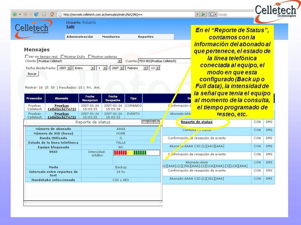 Productos que complementan el servicio y alternativas autónomas RVA400 GSM RVA600 Software Norma Receptor de Alarmas PATROL DC3 Receptor CELLETECH (RC-IP) Receptor de Alarmas PATROL IP Software de Envío de Comandos (SEC) Centinela