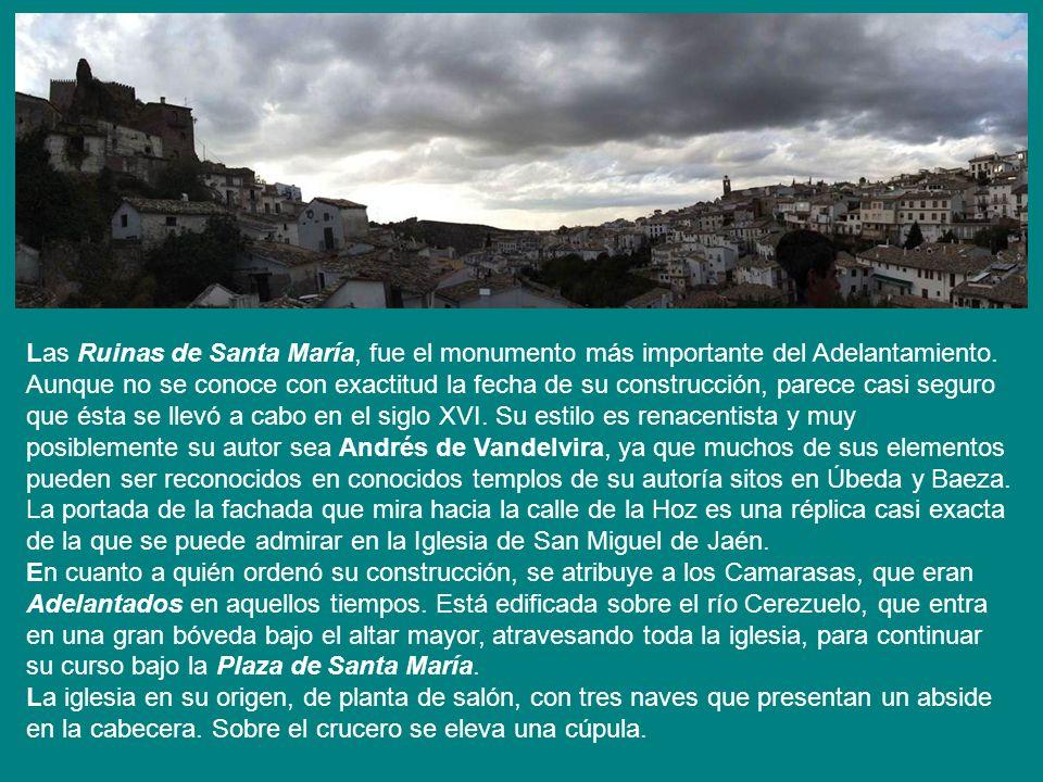 PLAZA DE SANTA MARÍA PLAZA DE SANTA MARÍA En esta bonita plaza se encuentran las y la hermosa fuente de las Cárdenas, ambas de estilo renacentista del siglo XVI.