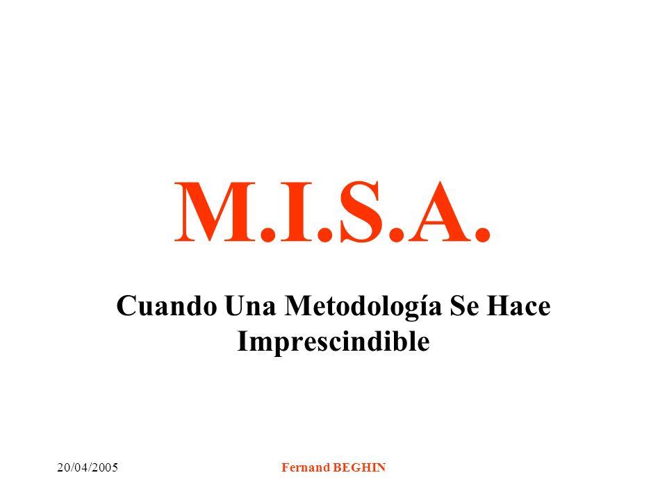 20/04/2005Fernand BEGHIN M.I.S.A. Cuando Una Metodología Se Hace Imprescindible