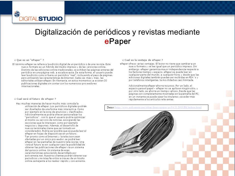 15 Digitalización de periódicos y revistas mediante ePaper ¿ Que es un ePaper .