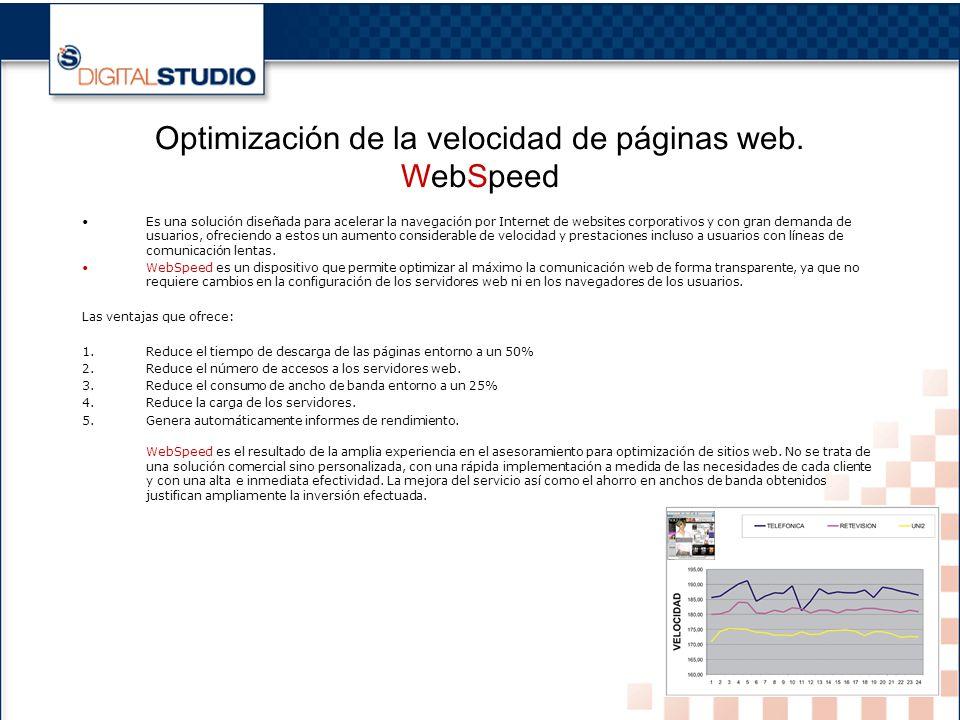 16 Optimización de la velocidad de páginas web.