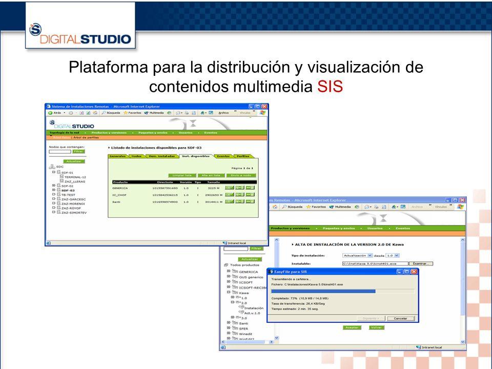 18 Plataforma para la distribución y visualización de contenidos multimedia SIS
