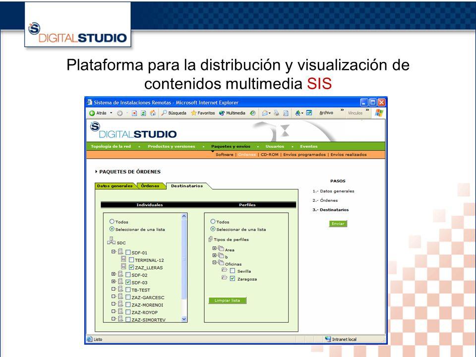 19 Plataforma para la distribución y visualización de contenidos multimedia SIS