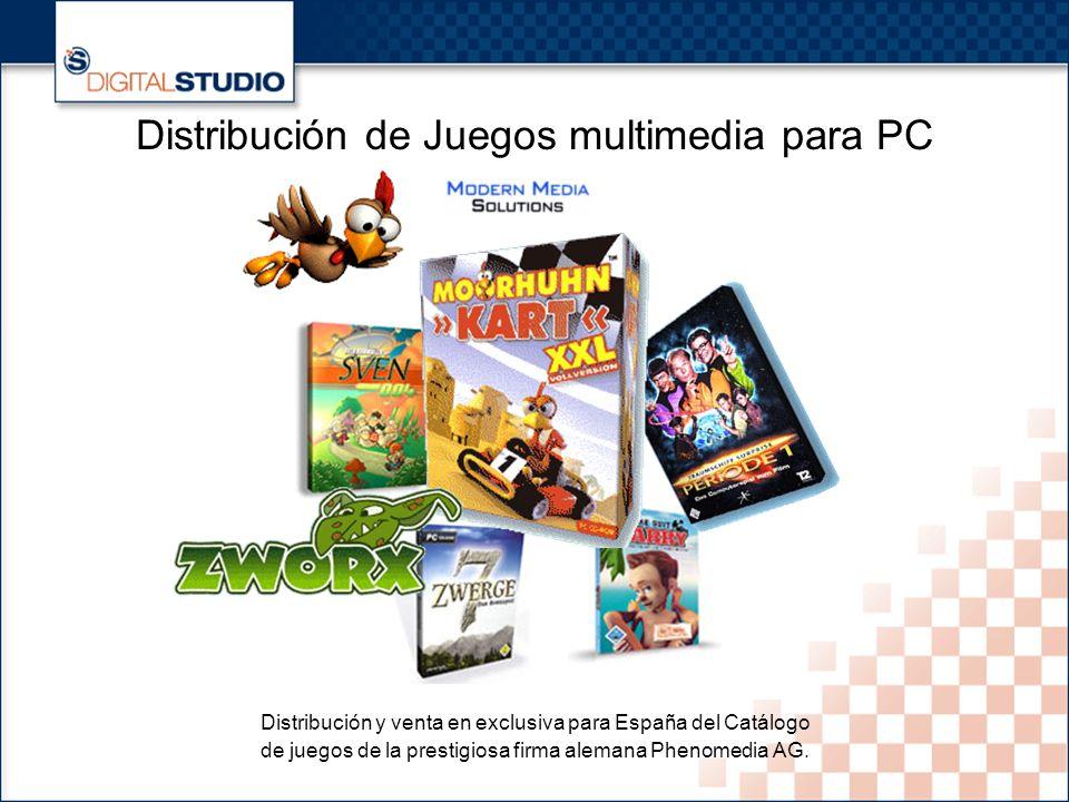 22 Distribución de Juegos multimedia para PC Distribución y venta en exclusiva para España del Catálogo de juegos de la prestigiosa firma alemana Phenomedia AG.