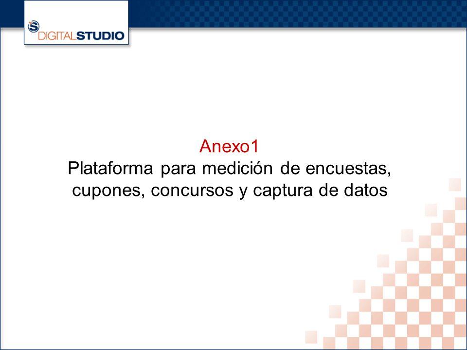 23 Anexo1 Plataforma para medición de encuestas, cupones, concursos y captura de datos