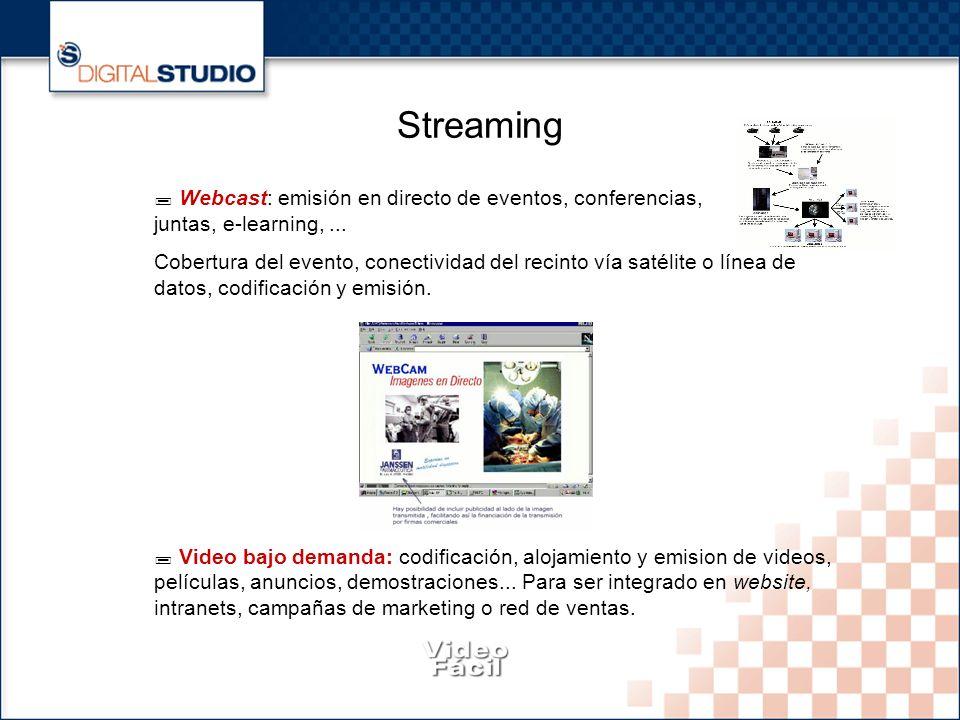 4 Streaming Webcast: emisión en directo de eventos, conferencias, juntas, e-learning,...