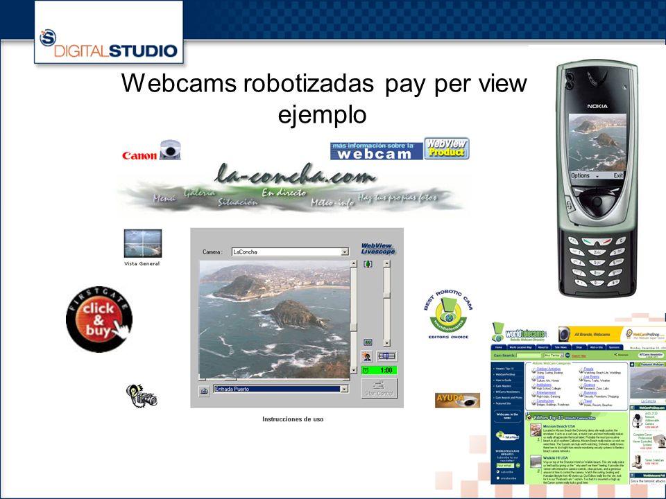 8 Webcams robotizadas pay per view ejemplo