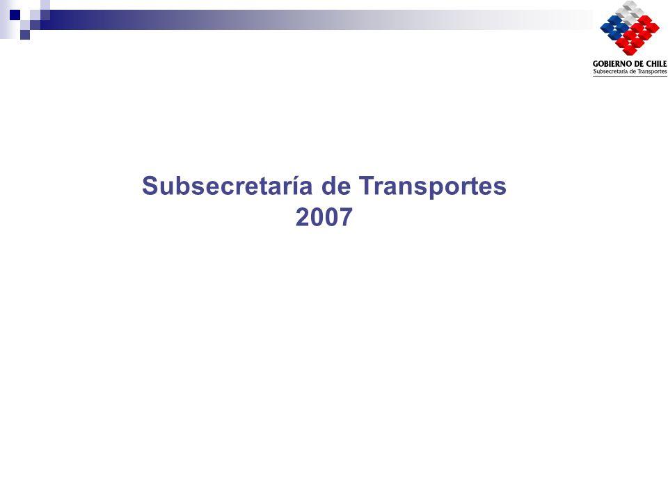 Subsecretaría de Transportes 2007