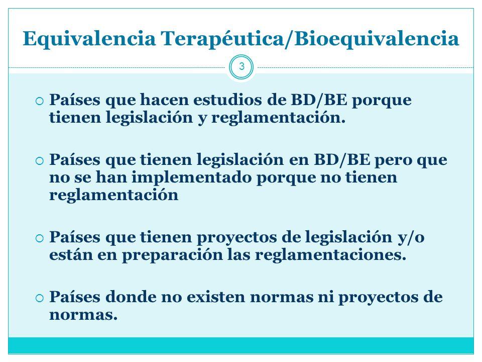 México 4 Esta norma no hace mención a los estudios de bioexención