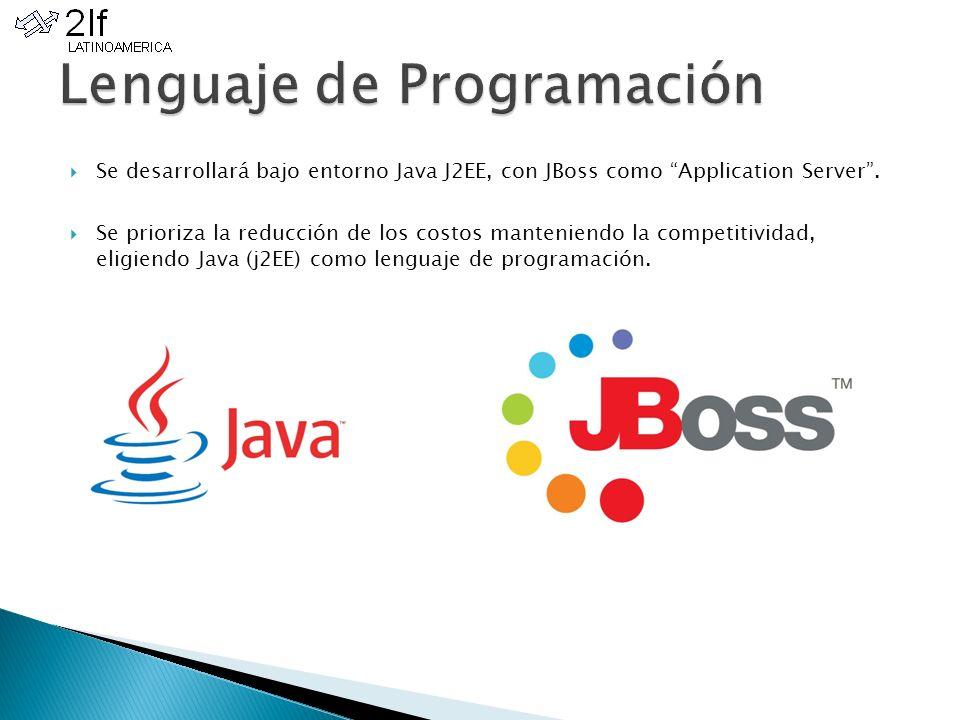 Se desarrollará bajo entorno Java J2EE, con JBoss como Application Server.