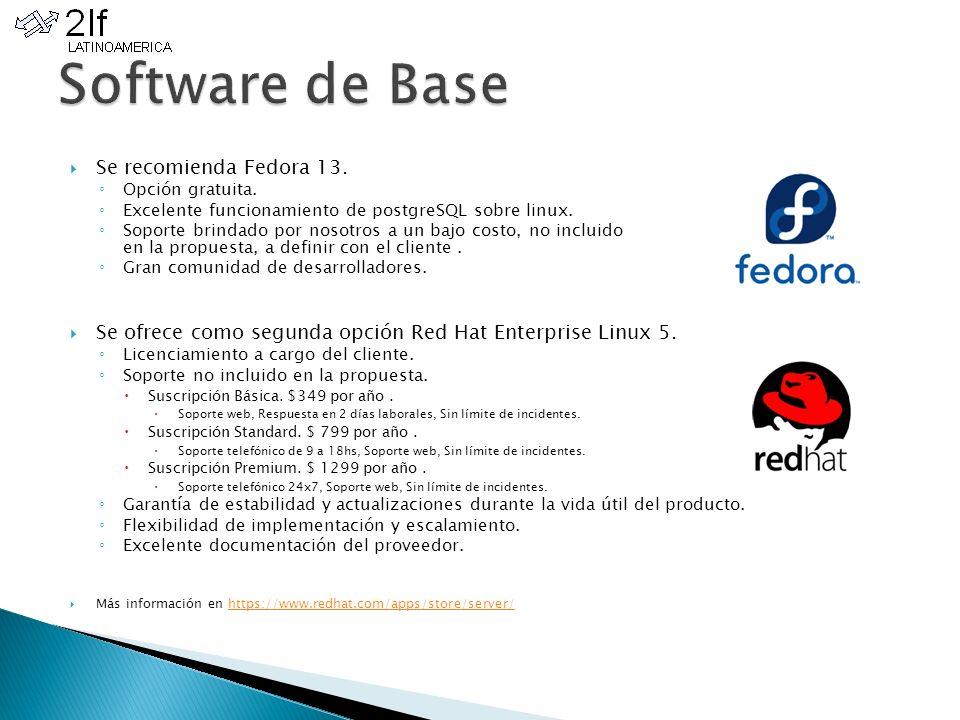 Se recomienda Fedora 13. Opción gratuita. Excelente funcionamiento de postgreSQL sobre linux.