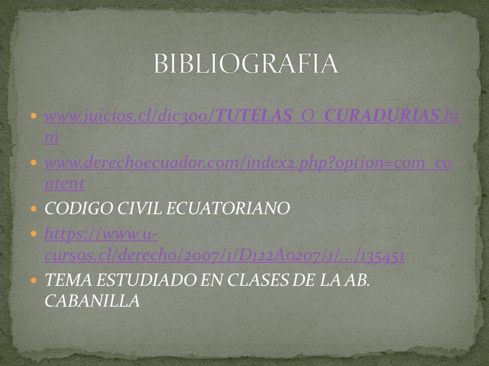 www.juicios.cl/dic300/TUTELAS_O_CURADURIAS.ht m www.juicios.cl/dic300/TUTELAS_O_CURADURIAS.ht m www.derechoecuador.com/index2.php?option=com_co ntent