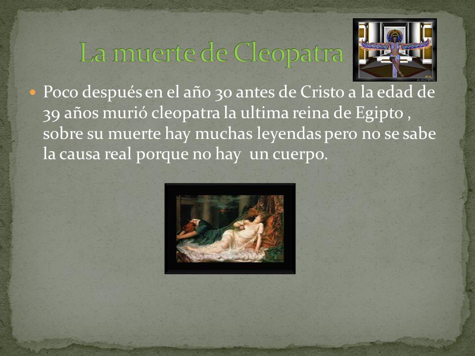 Marco Antonio y Cleopatra eran fuertes aliados y tenían grandes ambiciones.