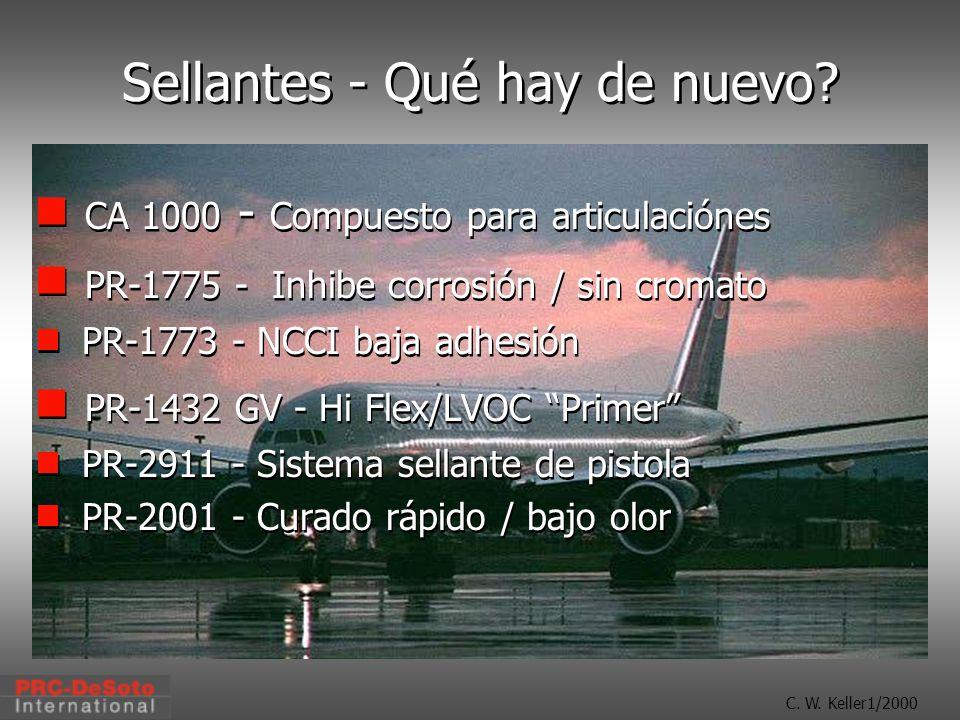 C.W. Keller1/2000 Sellantes - Qué hay de nuevo.