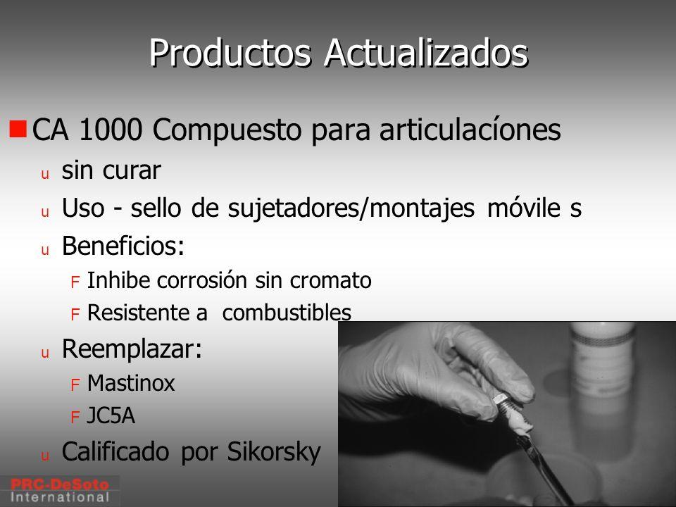 C. W. Keller1/2000 Productos Actualizados CA 1000 Compuesto para articulacíones u sin curar u Uso - sello de sujetadores/montajes móvile s u Beneficio