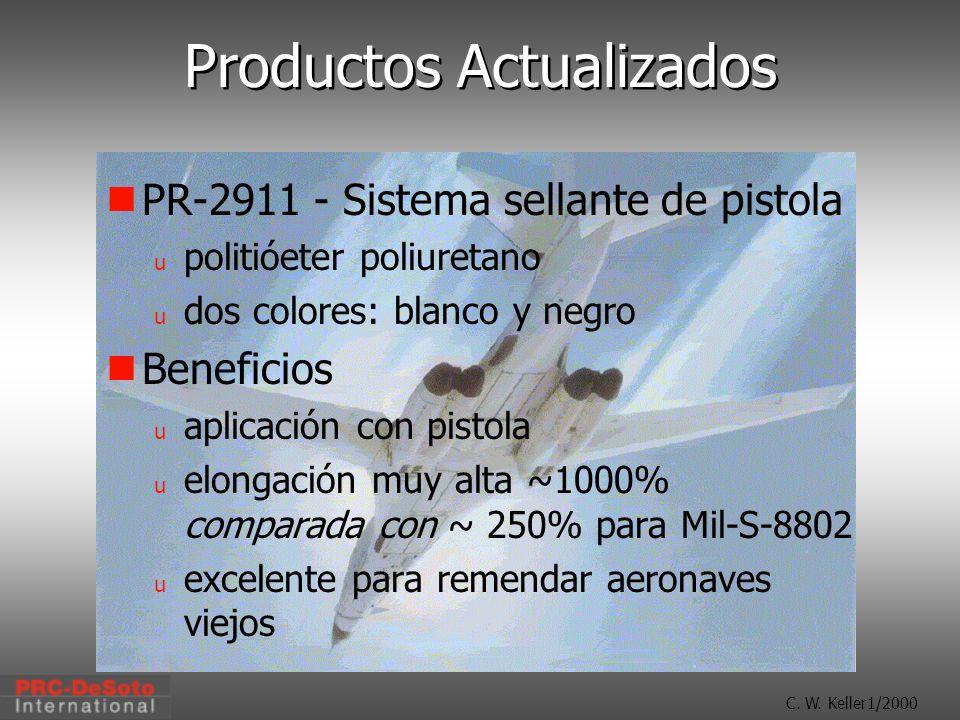 C. W. Keller1/2000 Productos Actualizados PR-2911 - Sistema sellante de pistola u politióeter poliuretano u dos colores: blanco y negro Beneficios u a