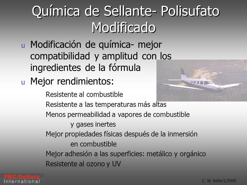 C. W. Keller1/2000 Química de Sellante- Polisufato Modificado u Modificación de química- mejor compatibilidad y amplitud con los ingredientes de la fó