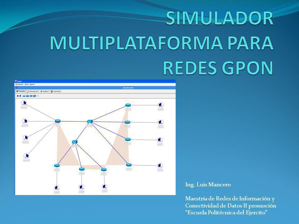Ing. Luis Mancero Maestría de Redes de Información y Conectividad de Datos II promoción Escuela Politécnica del Ejercito