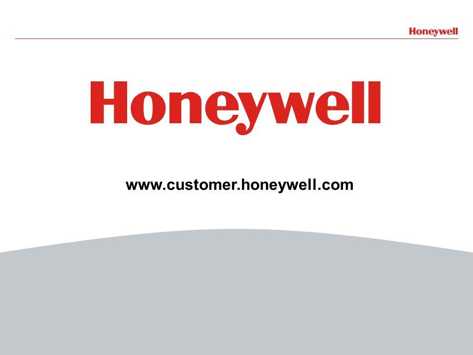 22HONEYWELL - CONFIDENTIAL File Number www.customer.honeywell.com