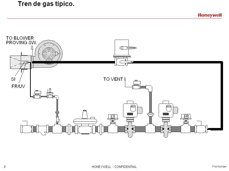 3HONEYWELL - CONFIDENTIAL File Number Tren de gas típico.