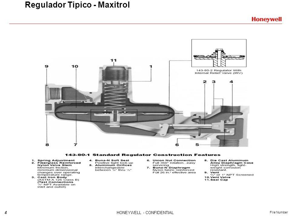 4HONEYWELL - CONFIDENTIAL File Number Regulador Tipico - Maxitrol