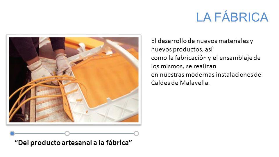 Textil + inyeccion Del producto artesanal a la fábrica LA FÁBRICA El desarrollo de nuevos materiales y nuevos productos, así como la fabricación y el