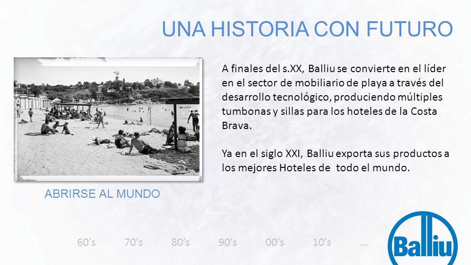 A finales del s.XX, Balliu se convierte en el líder en el sector de mobiliario de playa a través del desarrollo tecnológico, produciendo múltiples tum