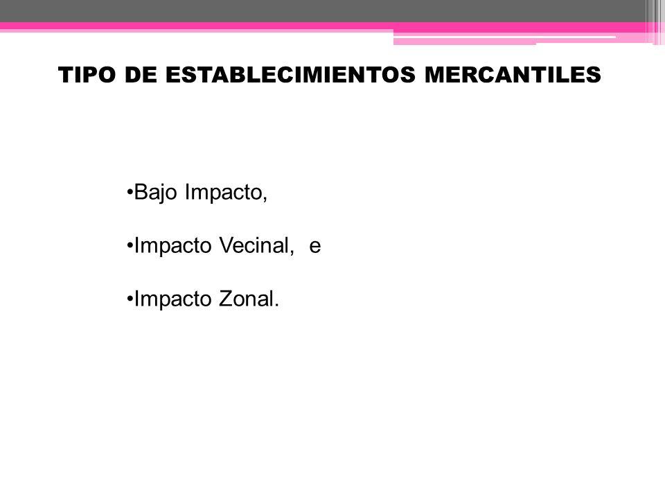 GIRO DE BAJO IMPACTO Es el establecimiento mercantil cuyas actividades son dedicadas solo a la intermediación, compraventa, arrendamiento, distribución de bienes y prestación de servicios.