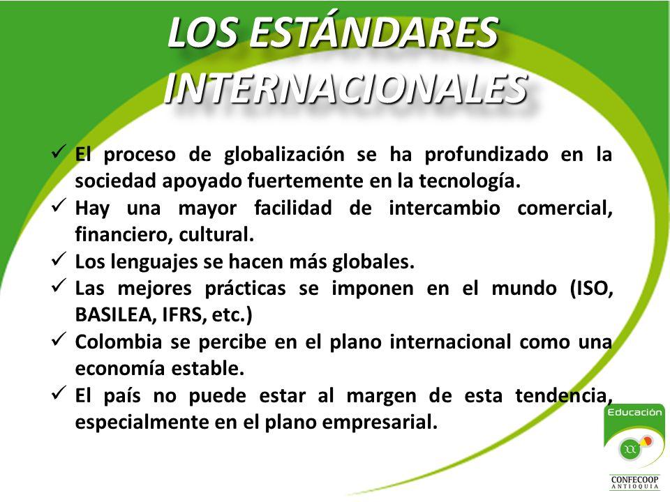 PROCESO DE CONVERGENCIA A NIVEL MUNDIAL Desarrollo y publicación de estándares internacionales de información financiera.