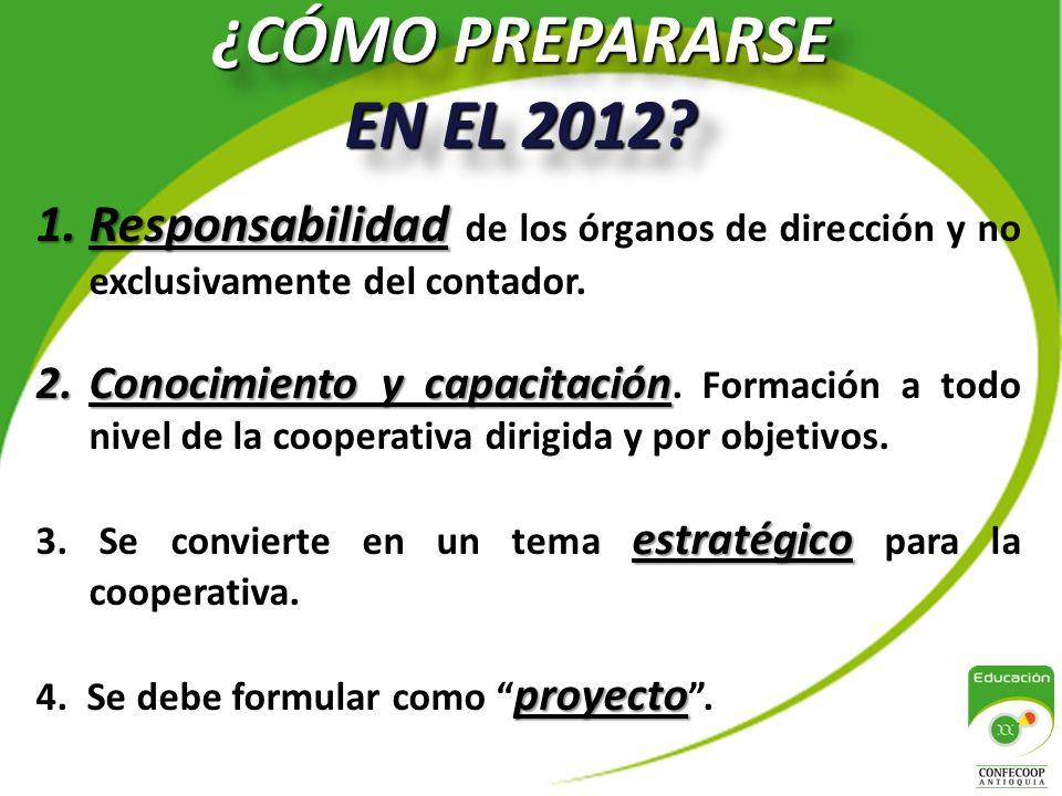 ¿CÓMO PREPARARSE EN EL 2012.¿CÓMO PREPARARSE EN EL 2012.