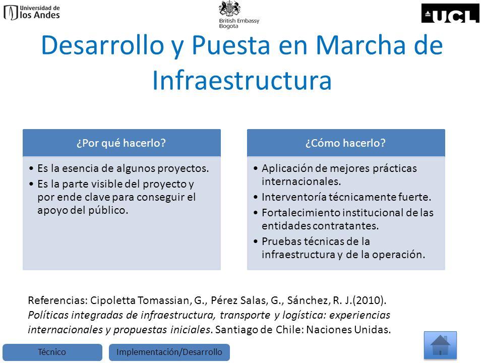Desarrollo y Puesta en Marcha de Infraestructura ¿Por qué hacerlo? Es la esencia de algunos proyectos. Es la parte visible del proyecto y por ende cla