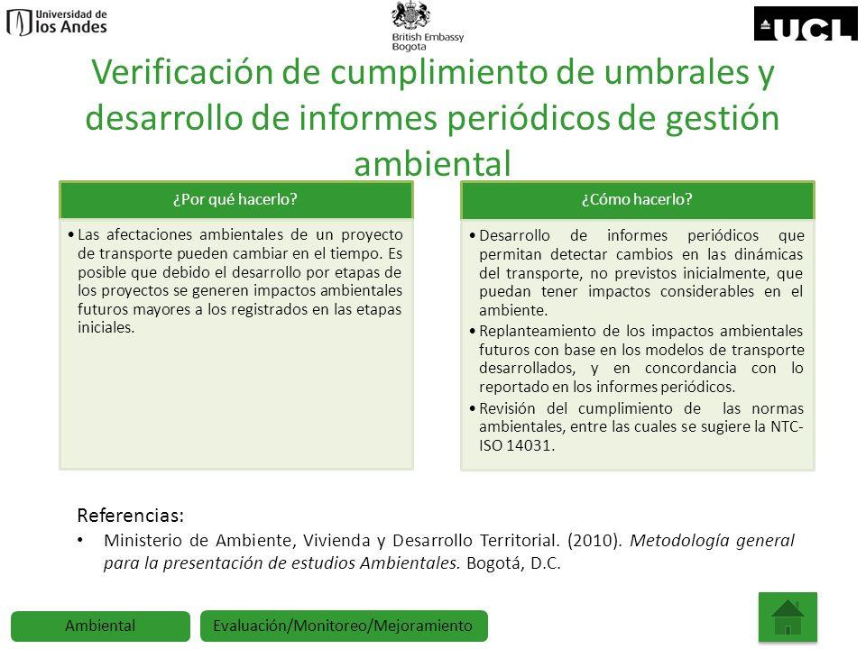 Verificación de cumplimiento de umbrales y desarrollo de informes periódicos de gestión ambiental ¿Por qué hacerlo? Las afectaciones ambientales de un