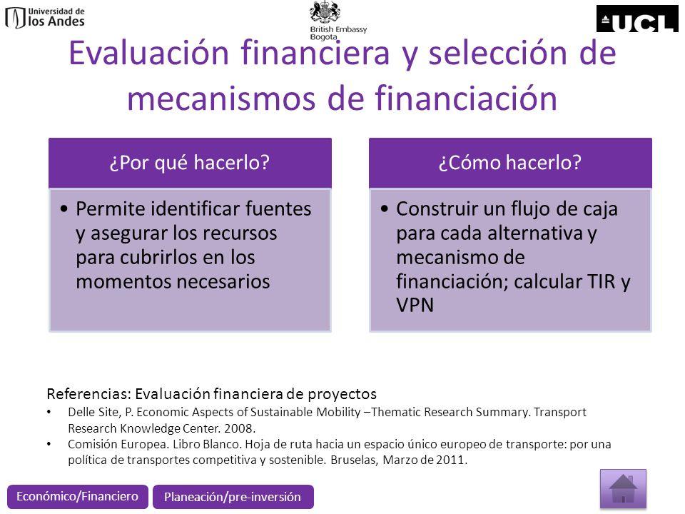 Evaluación financiera y selección de mecanismos de financiación ¿Por qué hacerlo? Permite identificar fuentes y asegurar los recursos para cubrirlos e