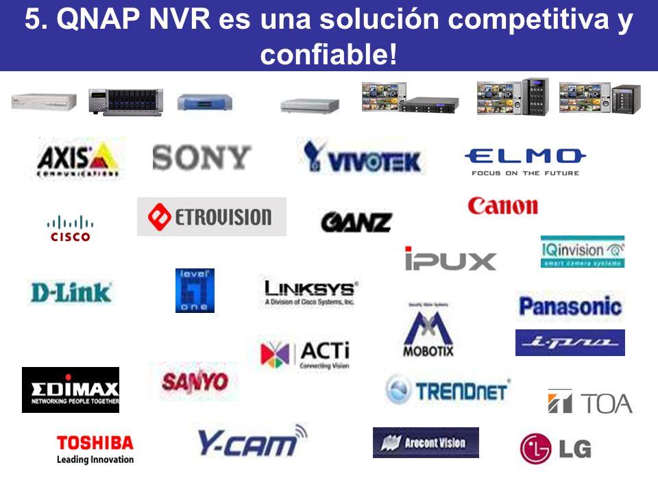 5. QNAP NVR es una solución competitiva y confiable!