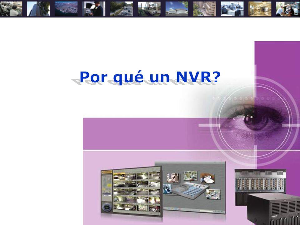 Concepto de Network Video Recorder NVR (Network Video Recorder): –Brindar la opción de administrar las cámaras IP a través del Explorador de Internet, sin la necesidad de acceder una por una.