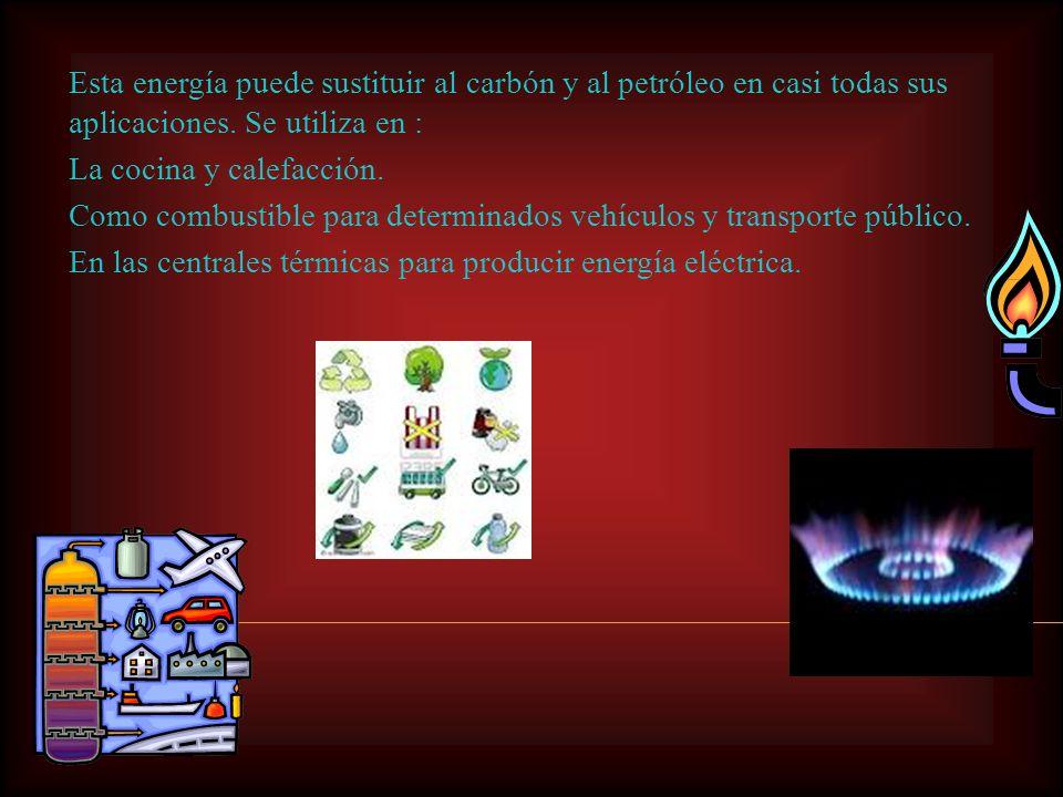 El gas natural es enviado por gasoductos hasta su lugar de consumo o almacenamiento. Las reservas de gas natural son abundantes y se supone que existe