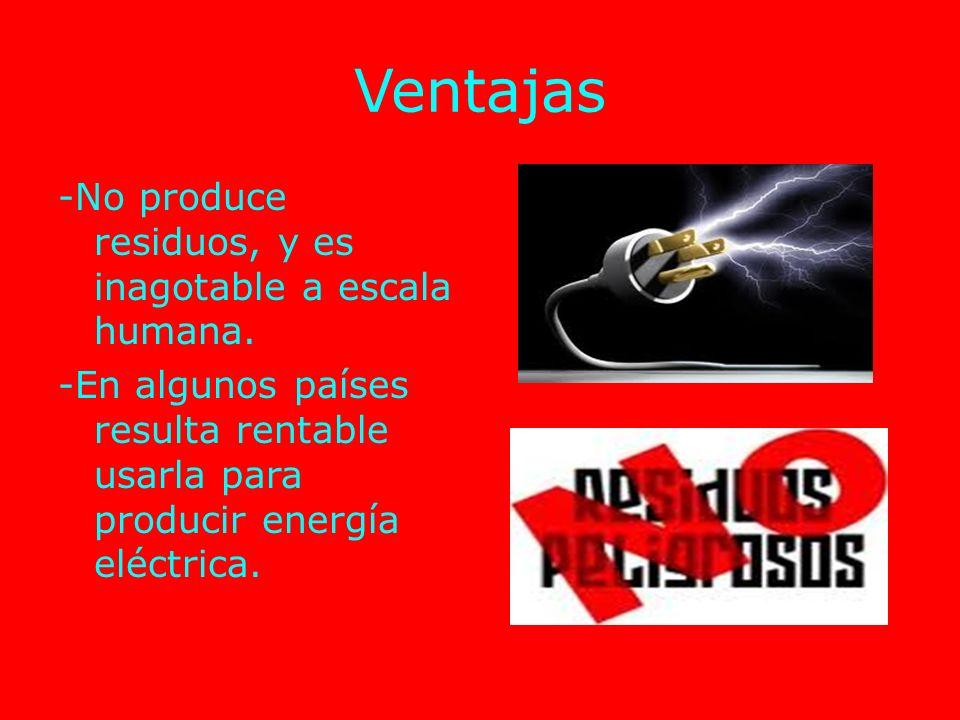¿Dónde se encuentra? Esta energía está limitada geográficamente a unas pocas regiones del planeta.