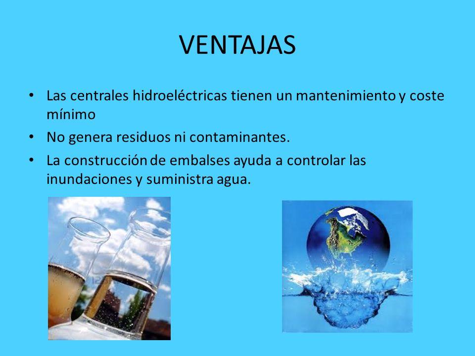 CENTRALES HIDROELÉCTRICAS Las instalaciones que transforman la energía del agua en energía eléctrica se denominan centrales hidroeléctricas.