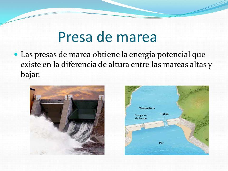 ¿Cómo se obtiene? La energía maremotriz tiene un alto costo para su obtención. Otras formas de obtener esta energía son: Las olas (energía undimotriz)