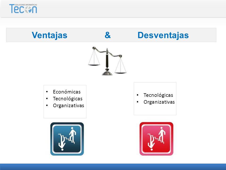 Económicas Tecnológicas Organizativas Tecnológicas Organizativas Ventajas & Desventajas