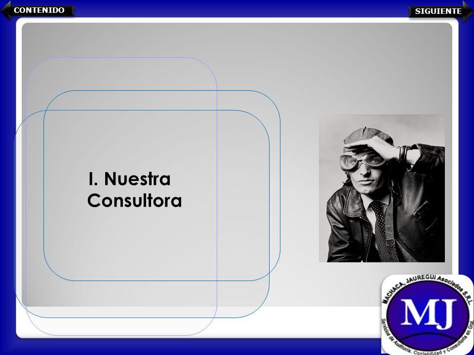I. Nuestra Consultora CONTENIDO SIGUIENTE