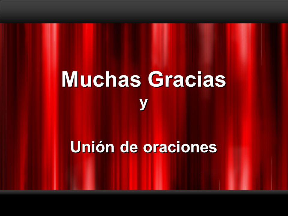 Muchas Gracias y Unión de oraciones Muchas Gracias y Unión de oraciones