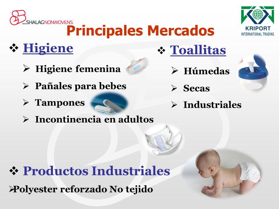 Higiene Higiene femenina Pañales para bebes Tampones Incontinencia en adultos Principales Mercados Toallitas Húmedas Secas Industriales Productos Indu