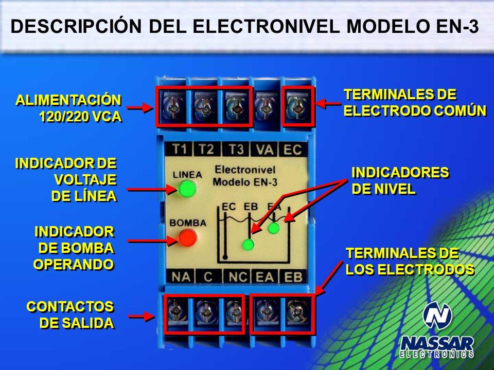 DETECCIÓN DE NIVELES ELECTRODO COMÚN ELECTRODO BAJO ELECTRODO ALTO