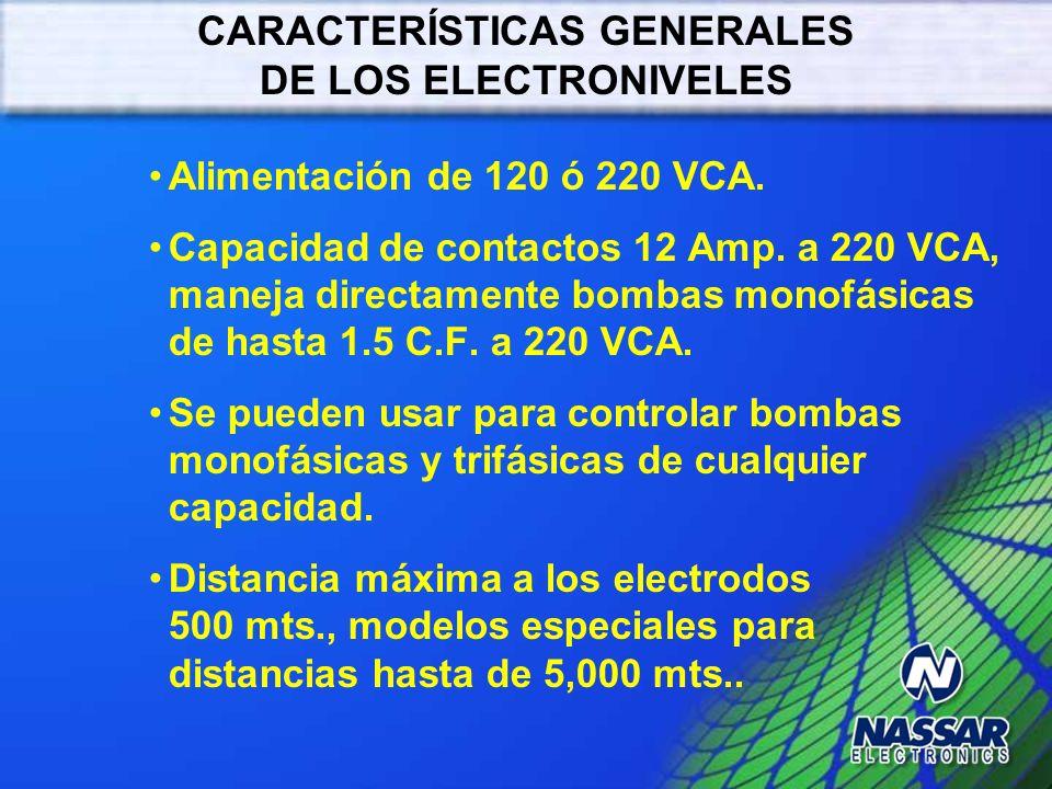 ELECTRODO COMÚN ELECTRODO BAJO ELECTRODO ALTO DETECCIÓN DE NIVELES