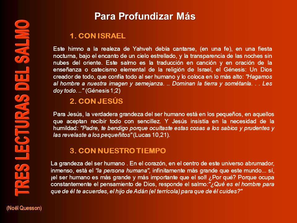 Oración Final Oh Dios, admirable en tus obras, autor de prodigios; Tú has extendido sobre nosotros el cielo, admirable obra de tus dedos, y has desple