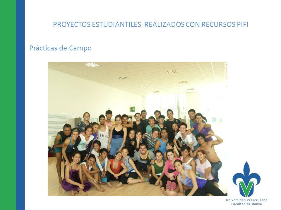 PROYECTOS ESTUDIANTILES REALIZADOS CON RECURSOS PIFI Prácticas de Campo