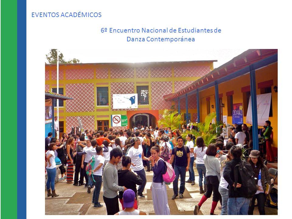 EVENTOS ACADÉMICOS 6º Encuentro Nacional de Estudiantes de Danza Contemporánea